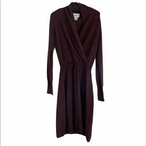 Neiman Marcus Cashmere Sweaterdress Brown